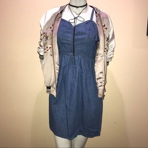 Denim, sweetheart corset style dress